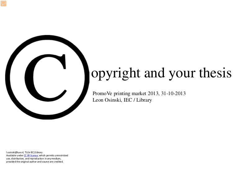 Acs copyright permission dissertation