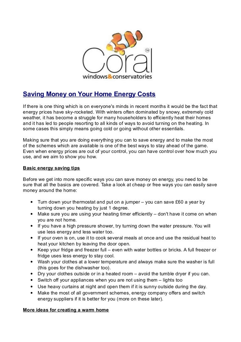 Coral Windows - How to continue saving money on your home energy costs