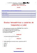 Questões Corrigidas, em Word: Temperatura e Dilatação   - Conteúdo vinculado ao blog      http://fisicanoenem.blogspot.com/