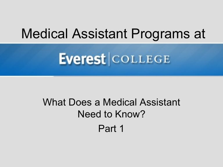 What Does a Medical Assistant Need to Know? Part 1