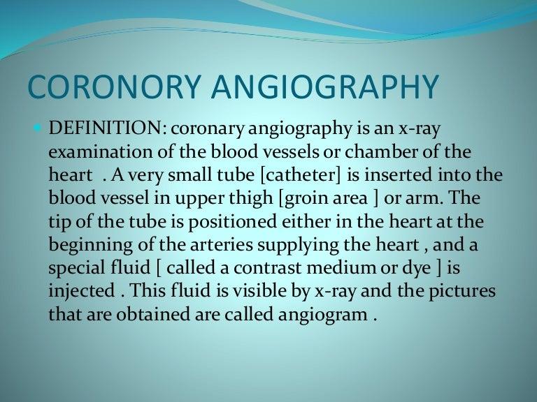 coronory angiography