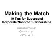 10 Tips for Creating Meaningful Corporate/NGO Partnerships