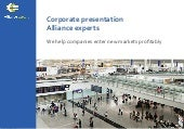 Corporate presentation Alliance experts
