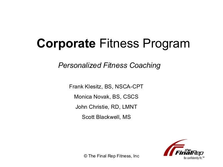 corporate fitness presentation