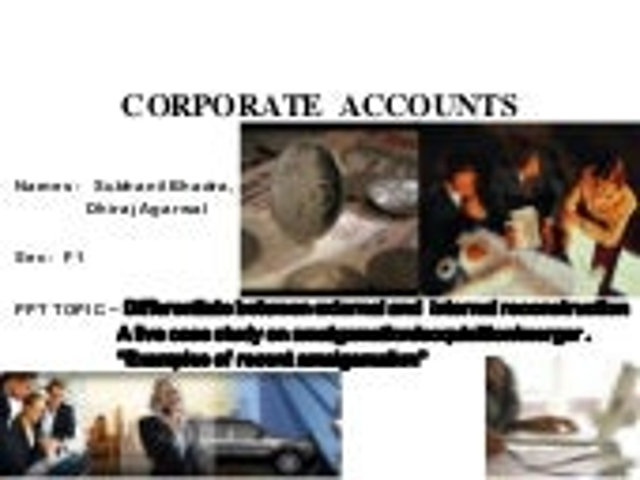Corporate  accounts