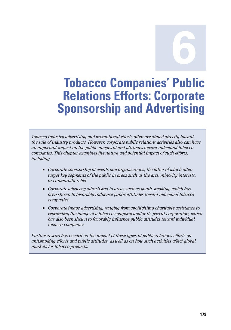 influence of tobacco advertising