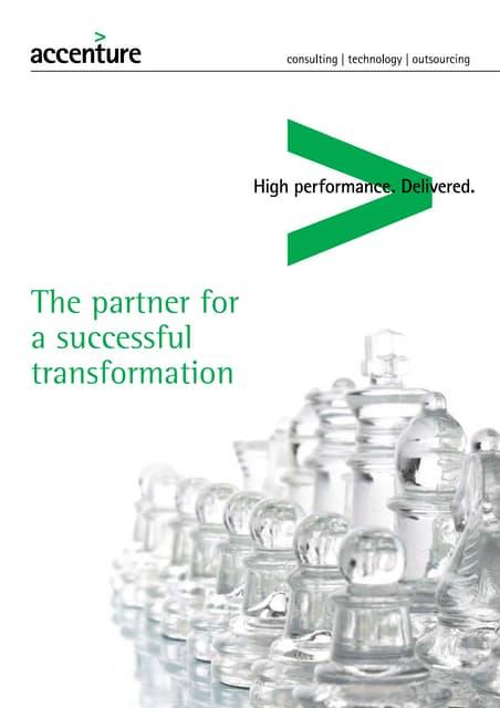 Corporate brochure Accenture Belgium Luxembourg