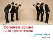 Corporate culture a source for competitive advantage