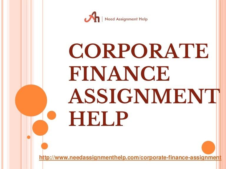 Corporate finance homework help