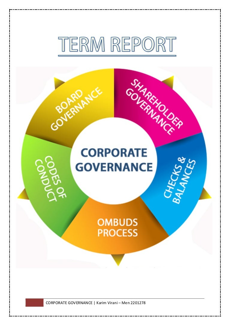 corporate governance term report karim v i