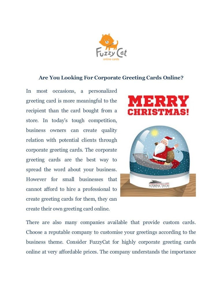 Corporate Greeting Cards Online