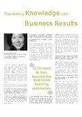 Translating Knowledge into Business Results - Deborah Ung, RWD, A Division of GP Strategies