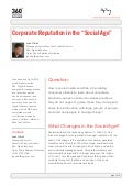 Corporate reputation social age by john bell