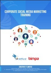 Corporate Social Media Marketing (SMM) Course Outline by BIMPA and Creative IT