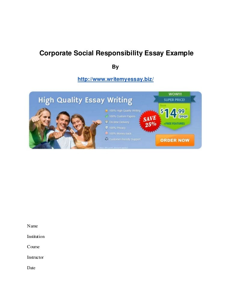 social responsibility   World s Largest Collection of Essays     SlideShare