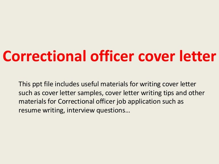 Correctional officer resume example