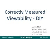 Correctly Measured Viewability DIY March 2019