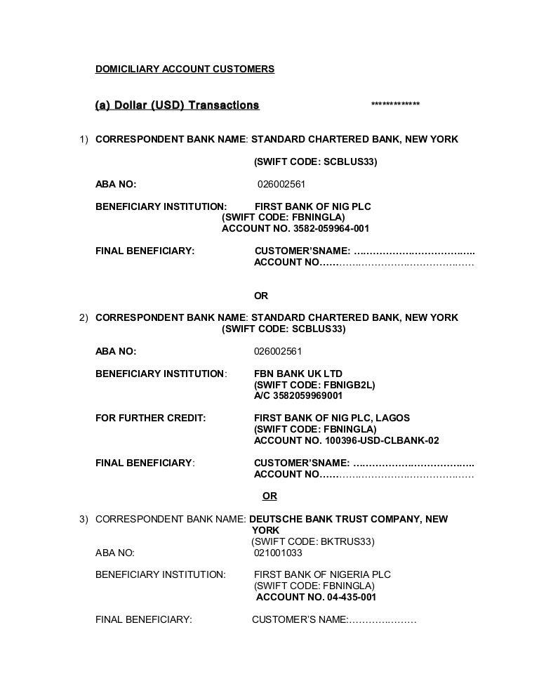 Correspondent bank details2