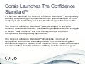 Corsis | Corsis Launches The Confidence Standard™