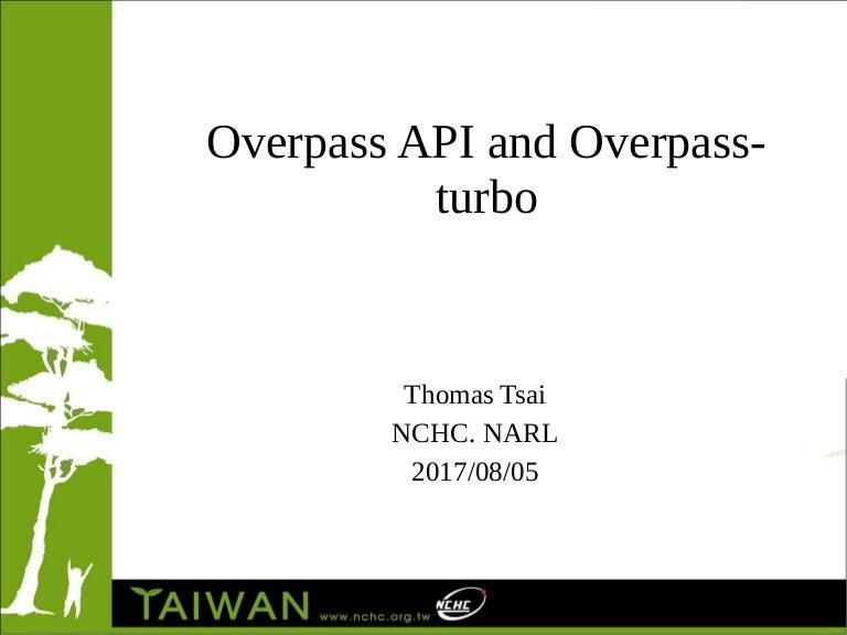 Overpsss API / Overpass-Turbo