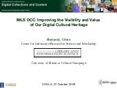 IMLS DCC Progress Update to the Chief Officers of State Library Agencies (COSLA)