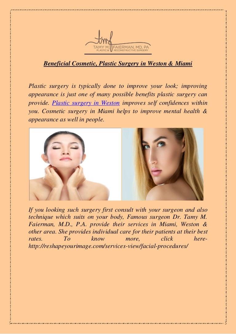 Beneficial Cosmetic & Plastic Surgery in Weston & Miami