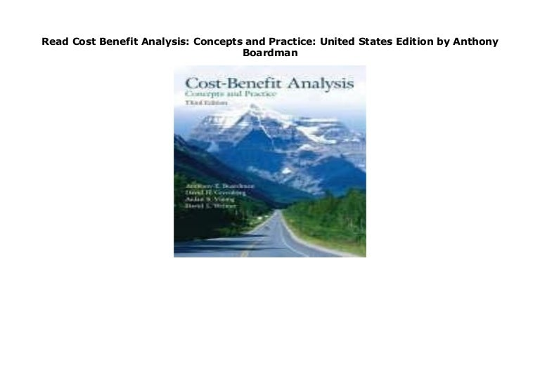 Concepts and Practice Cost-Benefit Analysis