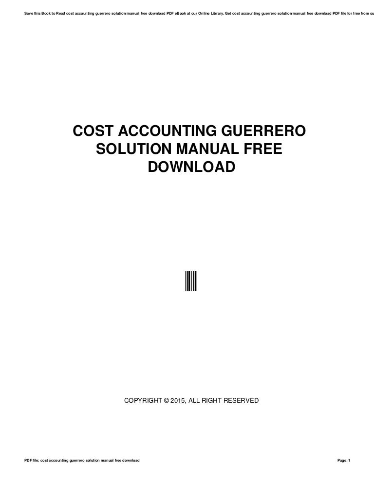 advanced accounting guerrero solution manual 2013 free download