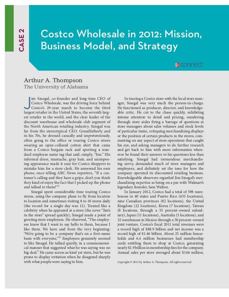 costco case study crafting and executing strategy