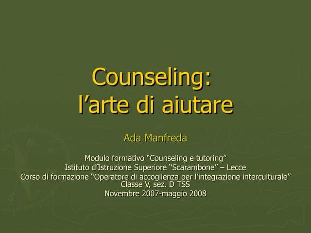 Counseling. L'arte di aiutare