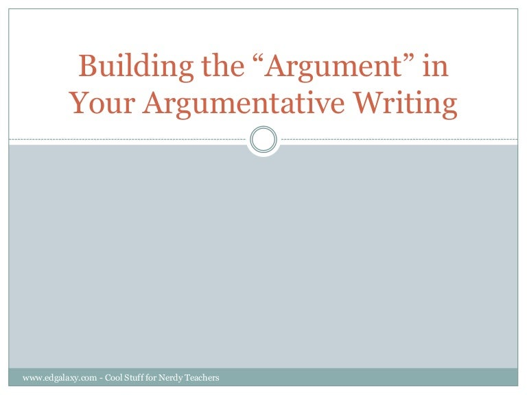 Teaching Counter Arguments To Students
