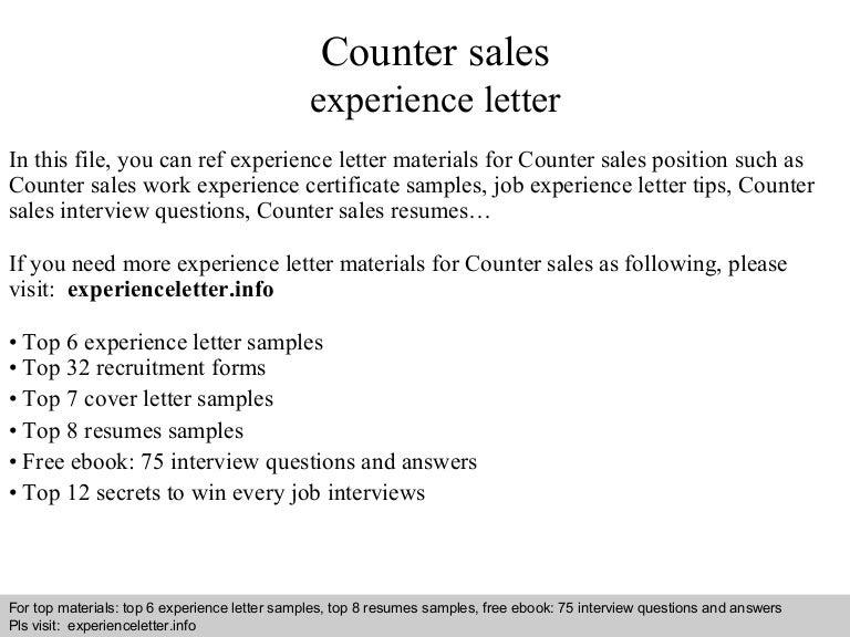 salesman experience