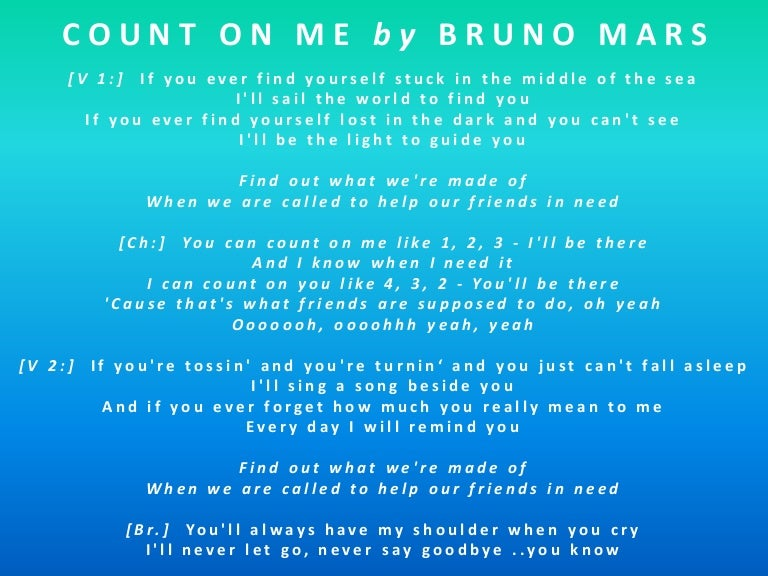 bruno mars you can count on me free mp3 download