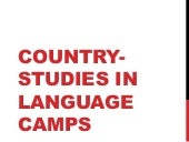 Country Studies in Language Camp