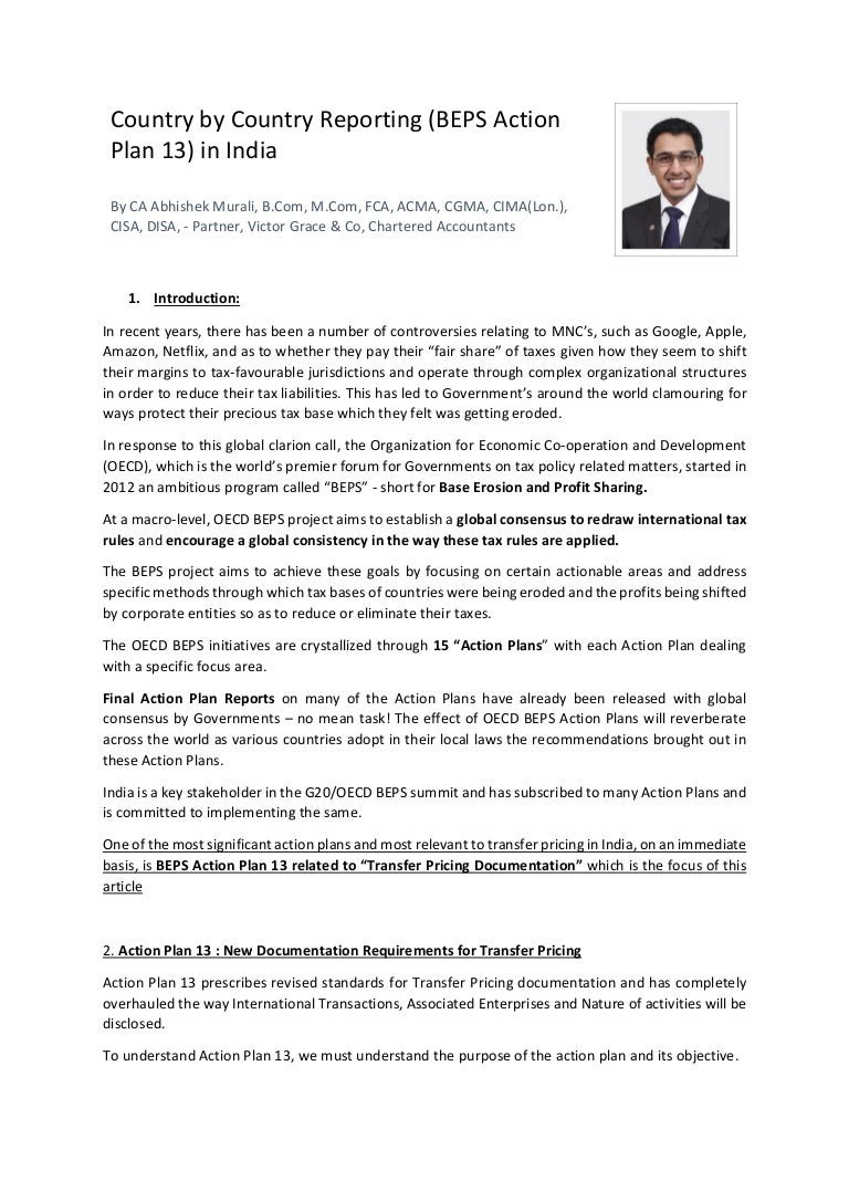 Country By Country Reporting And The Impact Of Beps 13 In India By Ab