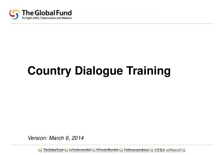 Country Dialog Training External