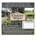 Country Manor Baton Rouge Home Sales 70816