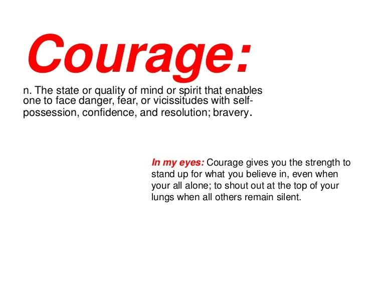 courage photo essay