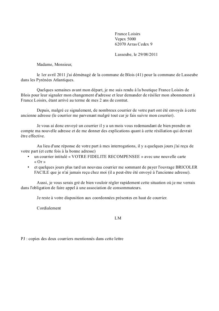 Courrier Contentieux France Loisirs2