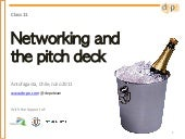 Course 11   networking and the pitch deck