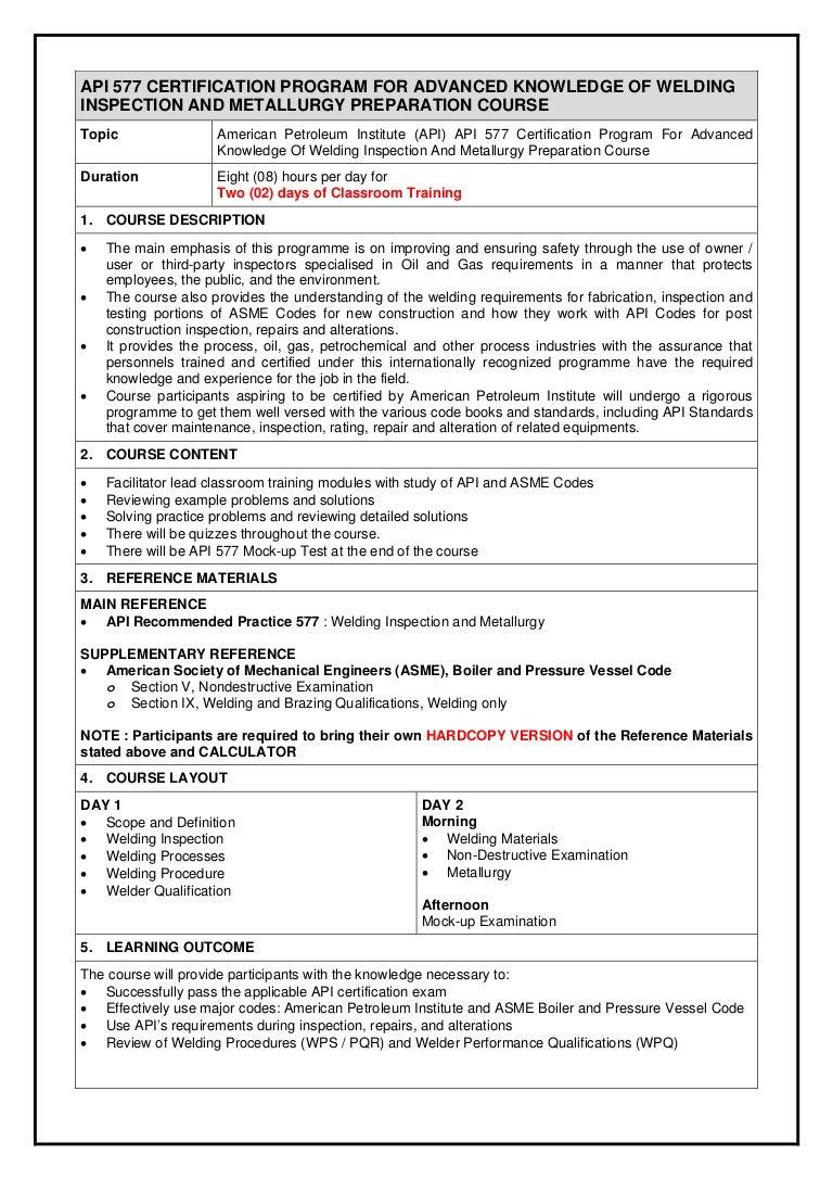 2015 Api 577 Welding Inspection And Metallurgy Certification Preparat