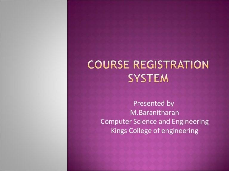 Course Registration System