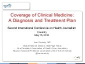 Coverage of Clinical Medicine: A Diagnosis and Treatment Plan