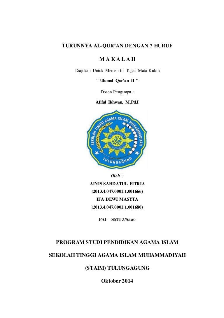 Makalah Ulumul Qur An 2