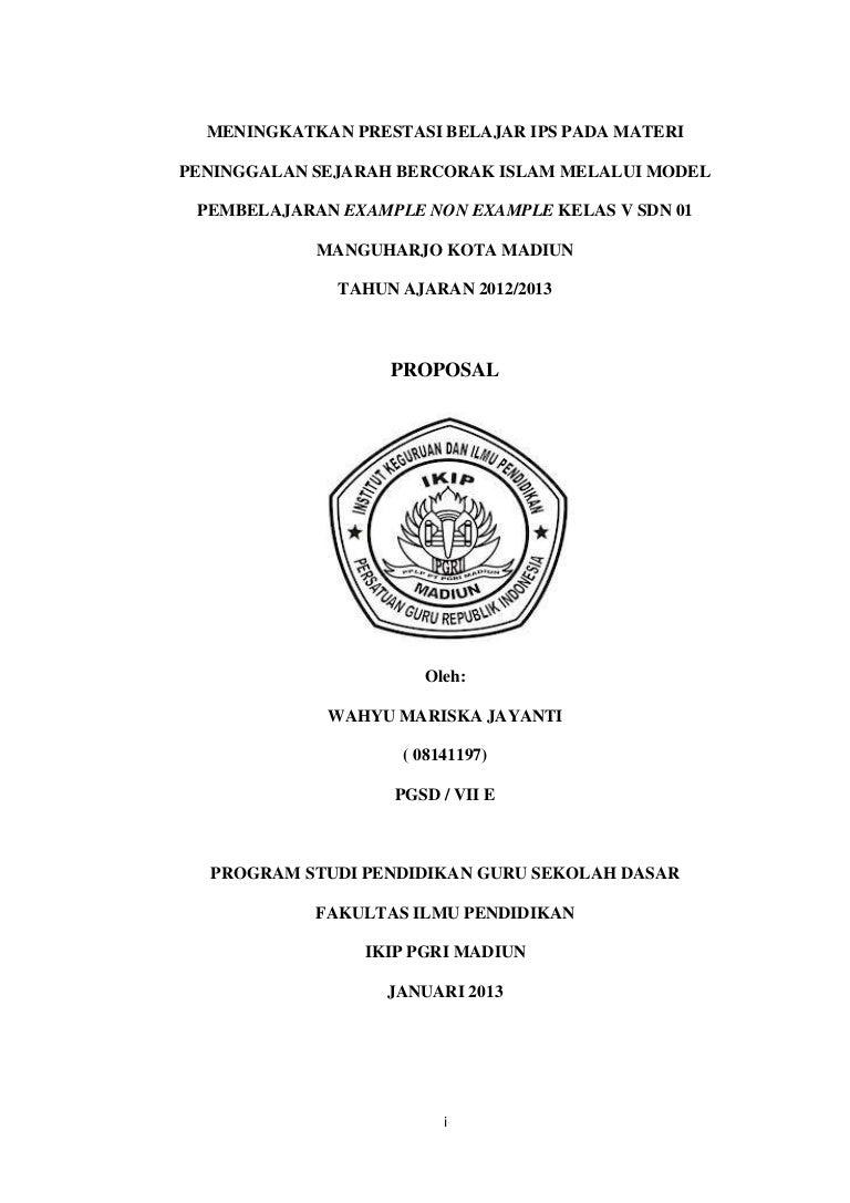 Cover Depan Proposal Penelitian Ilmusosial Id