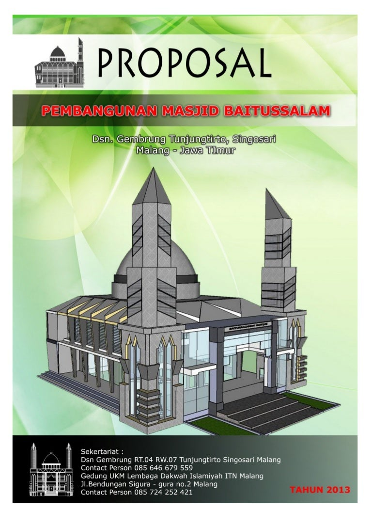 cover proposal pembangunan masjid