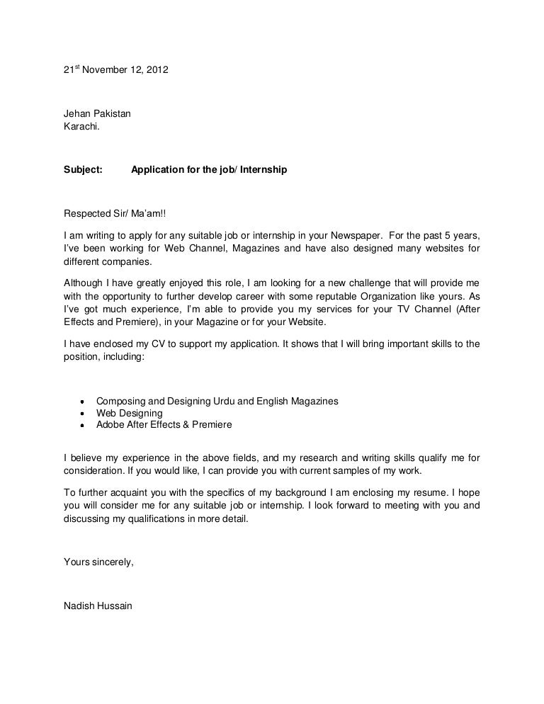 Contoh Application Letter For Any Position - How to write an ...