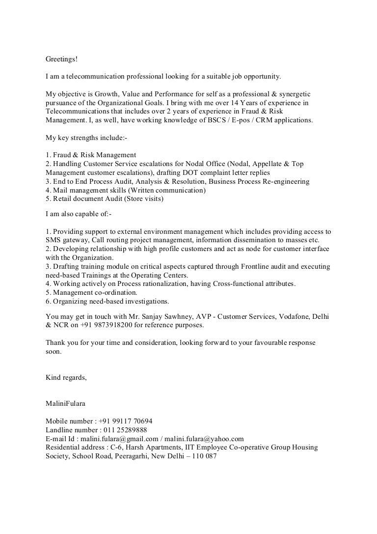 Application Letter For Job Opportunity] application letter for ...