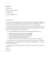 Cover letter for fresher and software developer with skills