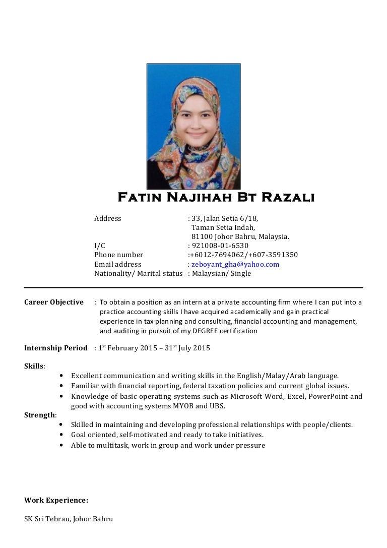 Resume Malay